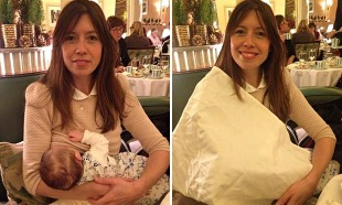 Lou Burns who was asked to cover up while breastfeeding at Claridges Hotel